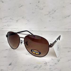 NEW Fossil Bronze Aviator Pilot Sunglasses
